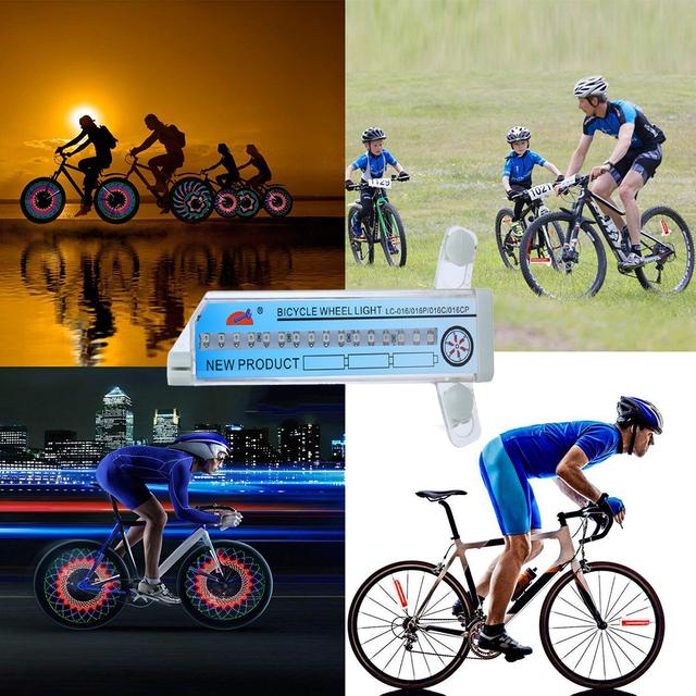 30 pattern Bike light Bicycle wheel light double display flash 32 RGB LED light Bicycle spoke lamp Night riding Cycling lighting