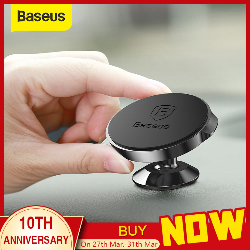 Baseus Strong Magnetic Phone Holder For IPhone 11 Samsung Magnet Car Holder 360 Degree GPS Dashboard Mobile Phone Holder Stand
