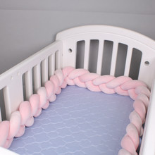 2.5M/4M Length Newborn Bumper Nordic Knot Knotted Braid Pillow Crib Side Protector Newborn Baby Knot Pillow Room Decoration(China)
