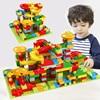 Mármol de carrera de bloque pequeño edificio bloques laberinto bola embudo de bloques de bricolaje ladrillos juguetes para niños de regalo
