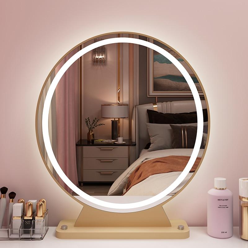 KingYee mirror for bedroom dressing Dressing table mirror vanity mirror LED makeup mirror 12v movable mirror