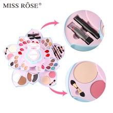 MISS ROSE Air cushion BB pink revolving big plum blossom makeup plate cross border eye shadow multi function makeup set