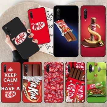 Kit de CUTEWANAN, carcasa de funda de teléfono de TPU blanda negro de kat chocolate kitkat para Redmi Note 8 8A 7 6 6A 5 5A 4 4X 4A Go Pro Plus Prime