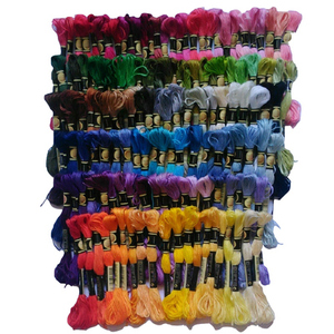 Image 1 - Podobne nici DMC 447 sztuk haft ściegiem krzyżykowym jedwabna nić 6 nici wybierz swój kolor + królik ściegiem krzyżykowym