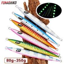 FUNADAIKO Slow Metal jigging lure Glow fishing Lure bait Lure bait Slow fall jigs fishing jig 80g 100g 120g 150g Saltwater lure