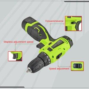 Image 5 - YIKODA 16.8V חשמלי מברג אלחוטי כפול מהירות נטענת ליתיום סוללה מיני נהג חשמל ביתי כלים