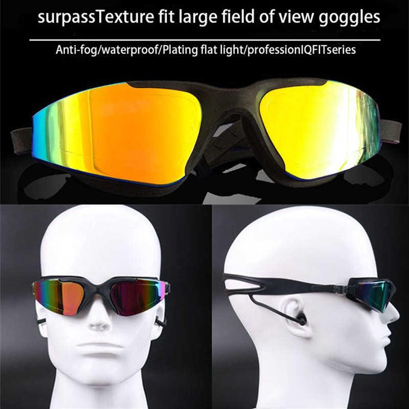 Occhiali Da Nuoto professionali di Nuoto Cap Caso Clip Del Naso Del Silicone Anti-nebbia UV Multicolor Per Adulti di Nuoto occhiali sportivi Set