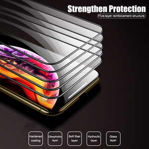 Image 2 - 5000D Full Curved Glass on For iPhone SE 2020 11 Pro XS MAX XR X Screen Protector Tempered Glass For iPhone 7 8 6 6s Plus Film