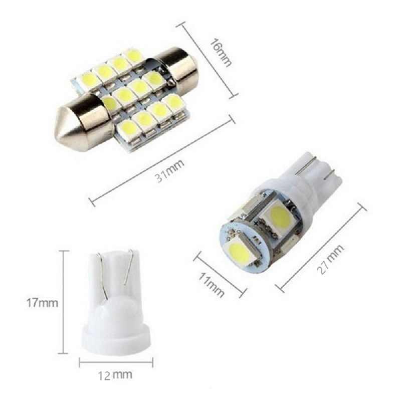 11 セットホワイト Led ライトインテリアパッケージ地図ドームアウディ 200 A1 A3 A4 A5 A6 A7 A8 Q3 q5 Q7