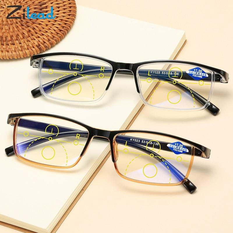 Zilead Smart zoom glasses Anti-blue reading glasses multiple focus fashion light comfortable TR90 frame for unisex