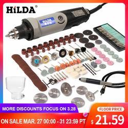 HILDA narzędzie obrotowe ze zmienną prędkością elektronarzędzia 400W Mini wiertarka 6 pozycja dla Dremel narzędzia obrotowe mini szlifierka w Młynki od Narzędzia na