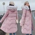 Парка для беременных; зимнее пальто; длинный пуховик из хлопка; повседневное зимнее пальто с меховым капюшоном; теплая парка для беременных;...