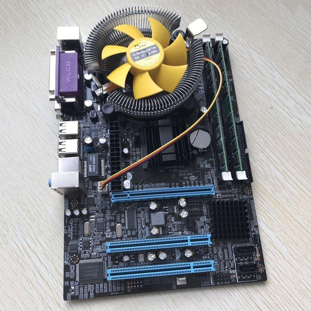 Материнская плата для компьютера с четырехъядерным процессором 2,66G cpu i5 core + 4G Memory + Fan Lot HK