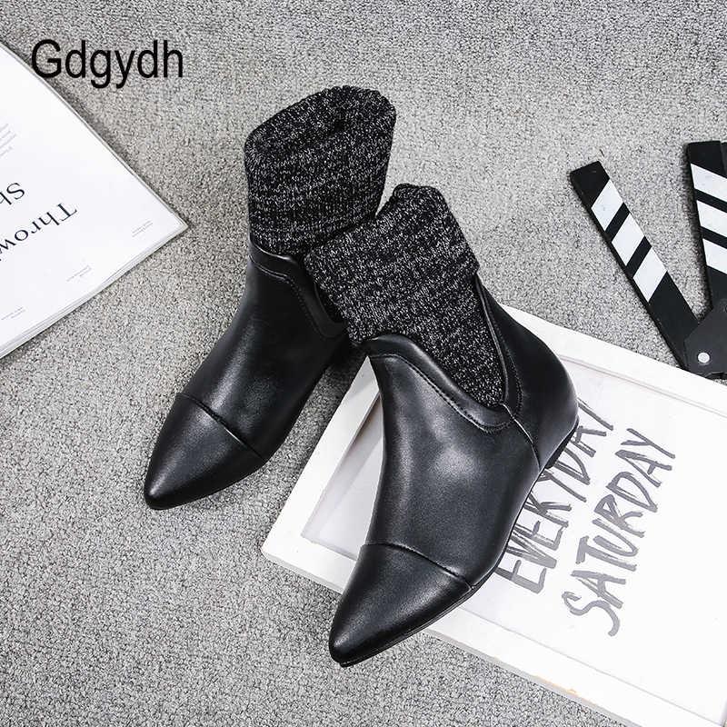 Gdgydh Yeni Varış Bayan Sonbahar Ayakkabı düz ayakkabı Kadın Sivri burun Ayak Bileği Chelsea Çizmeler Kadın Çeviklik Yüksek Kaliteli