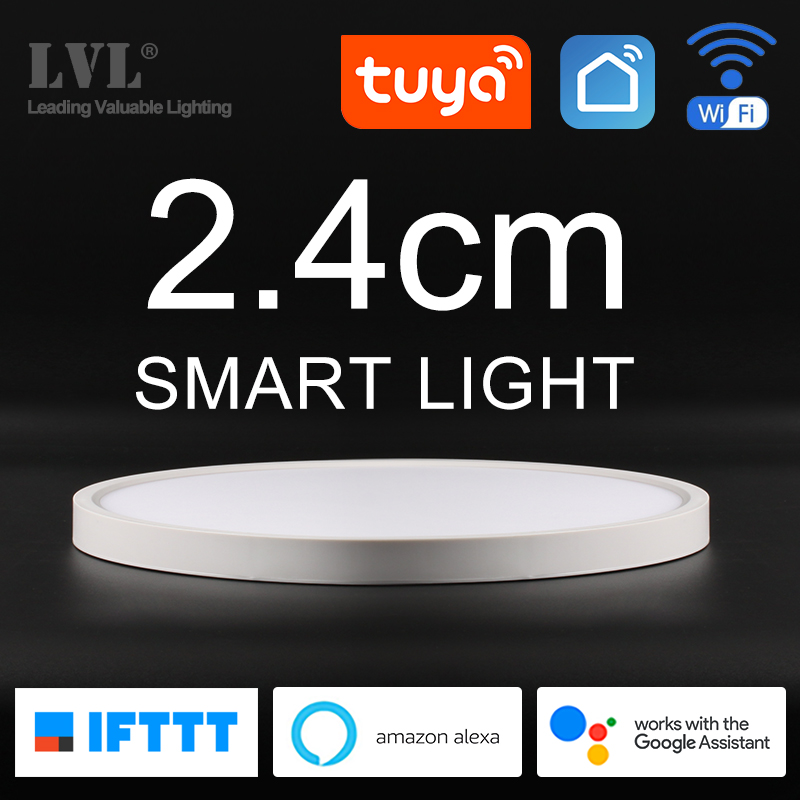 Modern LED Smart Ceiling Light Home Lighing WiFi Tuya App AI Voice Control Ultrathin Surface Mounting Ceiling Lamp