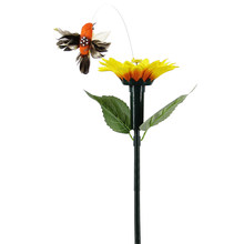 Electric Hummingbird Simulation Dancing Flying Colorful Yard Outdoor Decoration Solar Power Vibration Craft Garden Sun Flower(China)