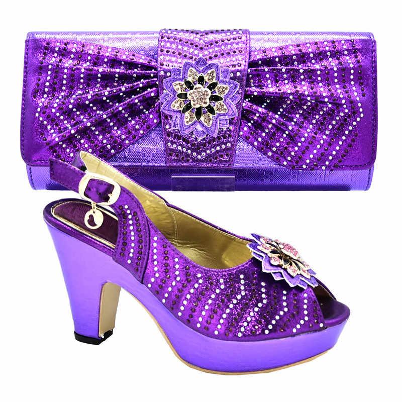 Ý Mới Giày Và Túi Xách Bộ Envio Gratis Thời Trang Ý Nữ Cưới Máy Bơm Có Ví Nữ Giày Cao Gót Kéo Khóa Nơ dây Đeo