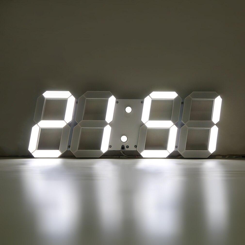 Вращающиеся цифровые часы с проекцией на стену с большим экраном дисплей дата время температура отличный ЖК будильник - 3