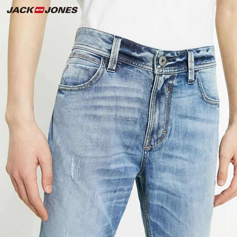 JackJones 남성용 신착 품 Acore 피부 친화적 인 슬림 피트 청바지 남성복   219332559