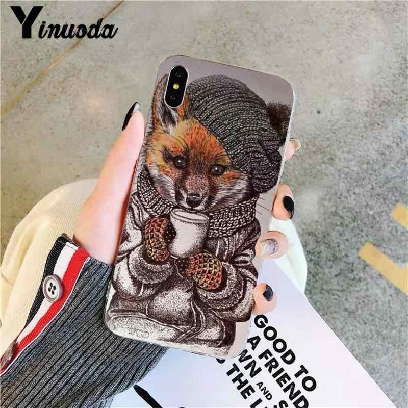 Yinuoda アニメおかしい foxs 素敵なかわいいソフトシリコン tpu 電話カバー iphone 11 プロ xs 最大 8 7 6 6 s プラス x 5 s 、 se 2020 xr ケース
