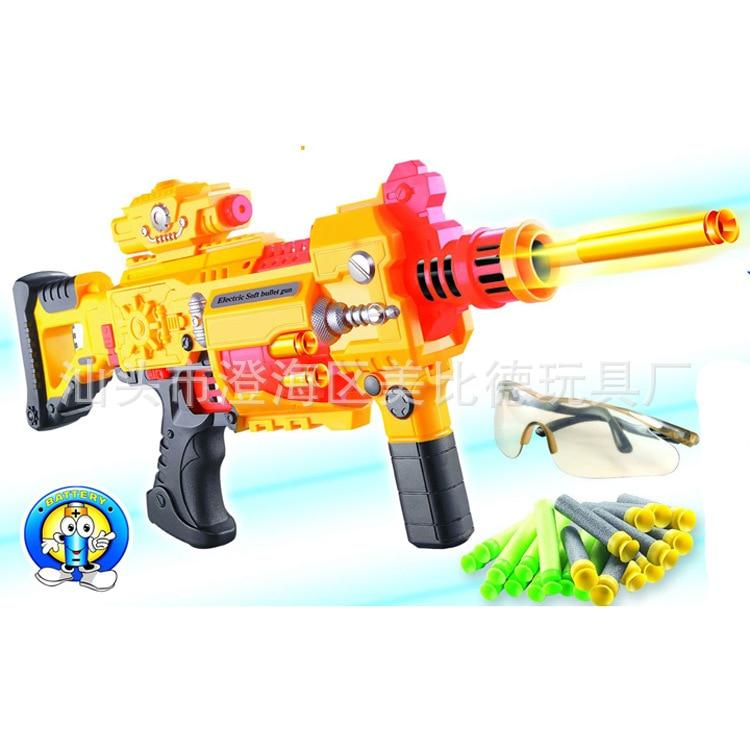 Children'S Educational Toy 20 Electric Soft Bullet Gun 3 Capsules AA Boy Toy Electric Gun
