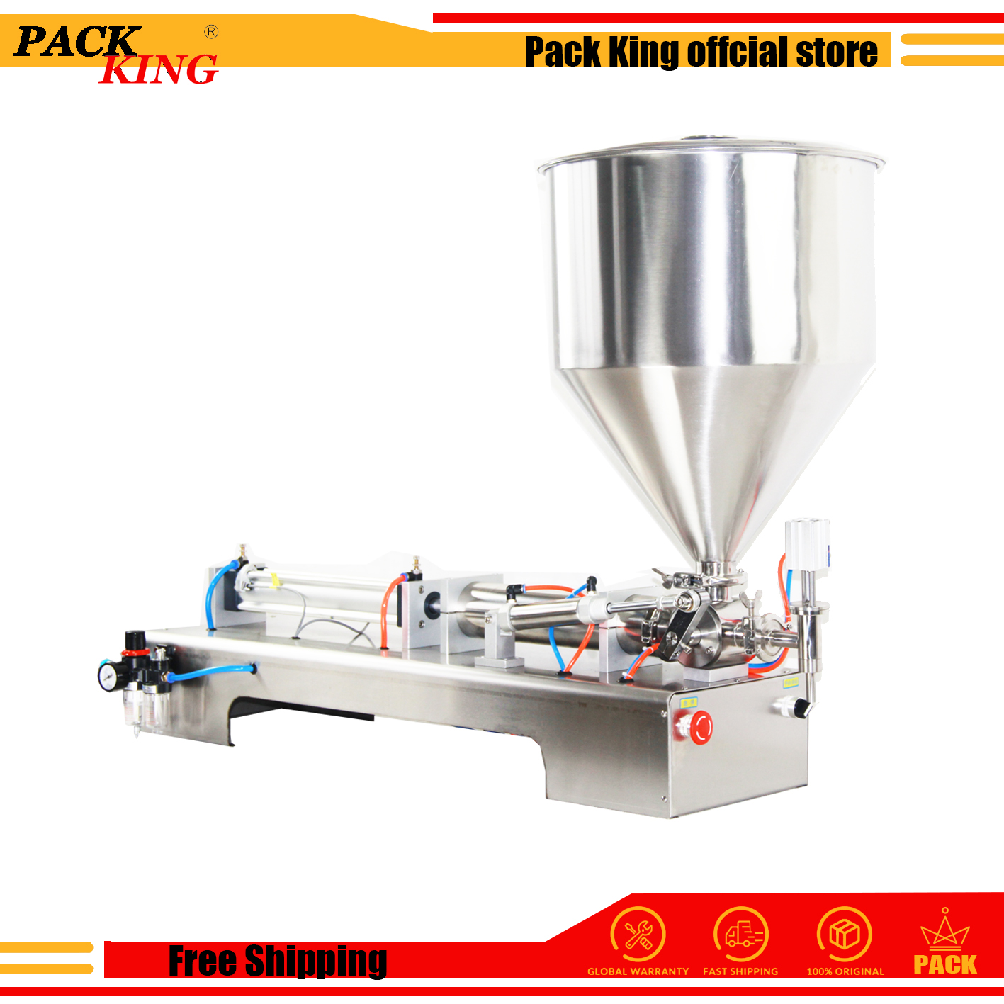 Filling Machine Lotion Shampoo Cream Filler Honey Sauce Paste Peanut Butter Pneumatic Semi Auto Ejuice Piston Free Shipping