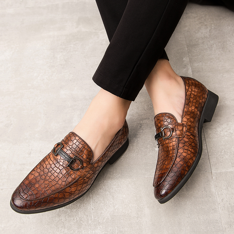 New Product Explosion 2019 Autumn Luxury Leather Men's Ankle Boots Crocodile Skin Pattern Comfortable Quality Men's Shoes