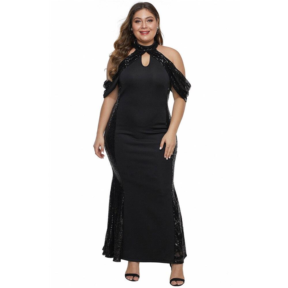 Bride Mother Dress Plus Size Evening Party Gowns 2020 Elegant Sequin Stretch Satin Halter Neck Mother Of The Bride Dresses