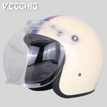 VECCHIO fiberglass motorcycle helmet vintage open face 3/4helmet motorbike motoc