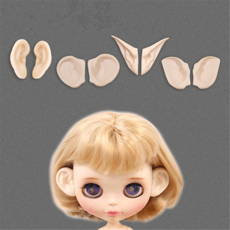 For Blyth Doll Icy Toy Ears Toy White Natural Tan Dark And Super Black Skin, Only Ears No Doll