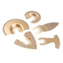 5 шт./компл. алмазов карбида колеблющихся мульти инструмент пилы для Фейн Bosch Multimaster Renovator Мощность инструменты для резки металла