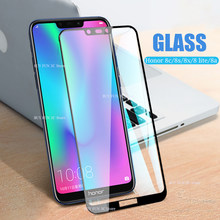 Protective Glass honor 8c 8s 8a 8 lite glass on for huawei 8lite light screen protector tempered glas huavei honer a8 c8 s8 film(China)