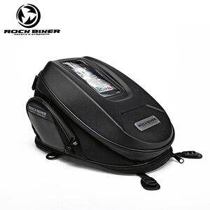 ROCK BIKER мотоциклетная топливная сумка, сенсорный экран, мобильный телефон, навигационная сумка, многофункциональный масляный бак, магнитные ...