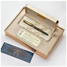 Siyah altın klip tükenmez kalem Duke siyah mürekkep orta dolum iyi yazma tükenmez kalem lüks iş hediye kalemler bir kalem ile kutusu