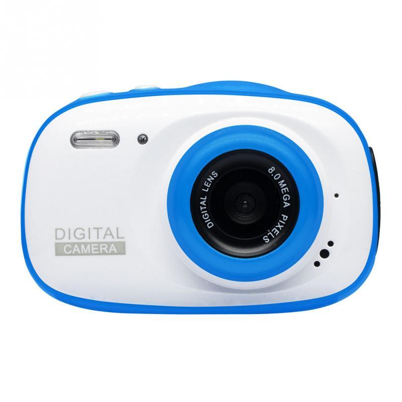 Подводная детская камера 12MP HD водонепроницаемая цифровая камера/4X цифровой зум/8 Гб карта памяти футляр для миниатюрной видеокамеры детская камера - Цвет: Белый