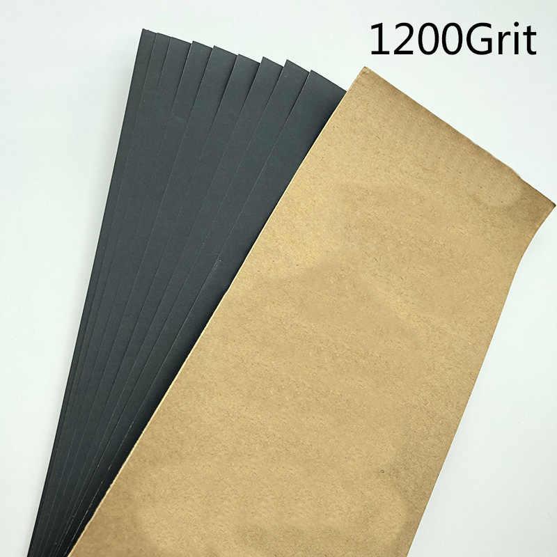 10 Pcs 9X3.6 Inches Nat Droog Siliconen Carbide Schuurpapier Schurende Schuurpapier Vel Auto Onderhoud Paint Care