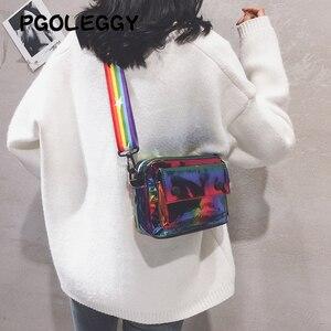 Image 2 - PGOLEGGY lazer kadınlar için Crossbody çanta 2019 moda çanta lüks kadın PU deri omuz çantaları seyahat için su geçirmez çanta