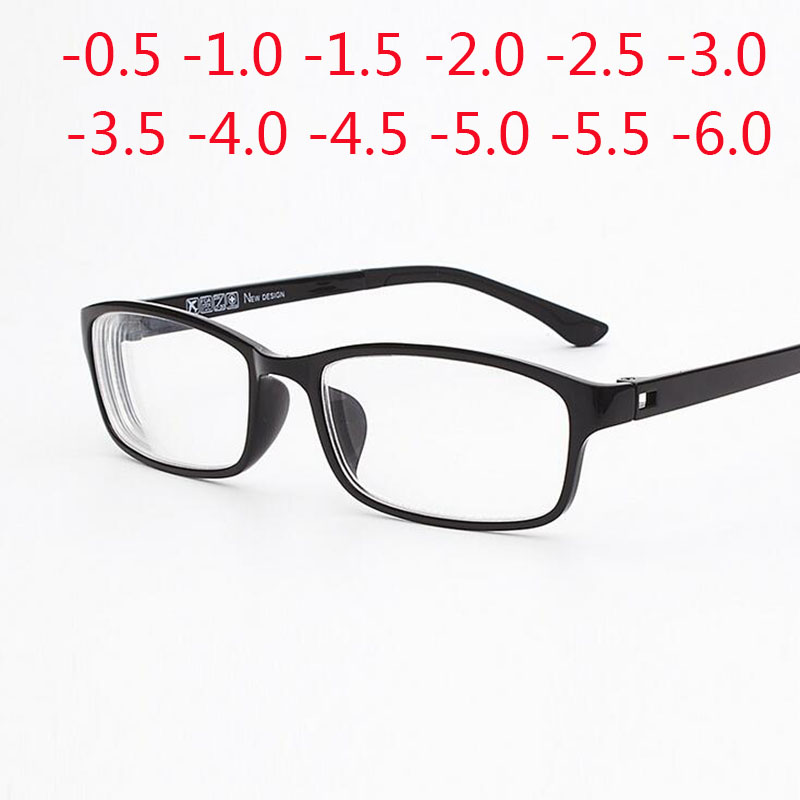 -0.5 -1.0 -1.5 -2.0 -2.5 To -6.0 Ultralight TR90 Finished Myopia Glasses For Unisex Short-sight Eyewear With Degree 1331