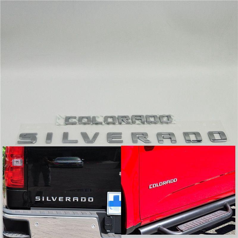 Para Chevrolet Silverado Colorado LTZ puerta trasera emblema puerta delantera Placa de insignia logotipo pegatina