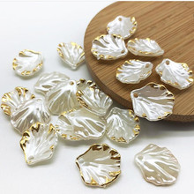 popular white acrylic cabbage shape diy beads fashion loose plastic fit for jewelry accessory 15*17mm xnb199