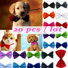 Wholesale 20PCS Pet Necklace Adjustable Strap for Dog  Pet Dog Cat  Collar Dogs Accessories pet bow tie puppy Pet supplies customized name phone dog collar leash rope christmas decoration pet necklace with bow tie walking dog straps adjustable buckles