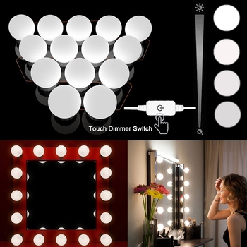 Frigg LED 12V Makeup Mirror Light Bulb Hollywood Vanity Lights Stepless Dimmable Wall Lamp 6 10 14Bulbs Kit for Dressing Table led makeup vanity light 2 6 10 14bulbs kit led 12v hollywood mirror light bulb led 8w 12w 16w 20w dimmer wall lamp for bathroom