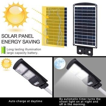 Newest 60W 120 LED 2835SMD Solar Sensor Outdoor Light with Light Control and Radar Sensor Black 3