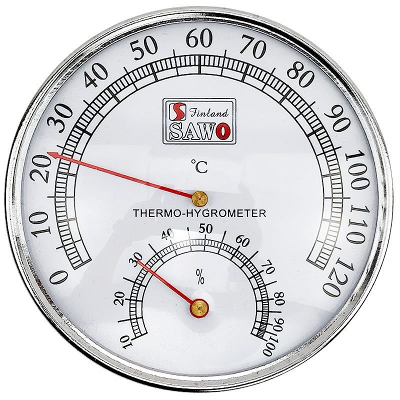 Sauna Thermometer Stainless Steel Case Steam Sauna Room Thermometer Hygrometer  Sauna  Used