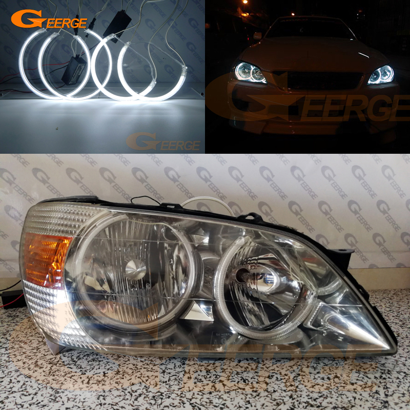 Excellent CCFL Angel Eyes Kit Halo Ring Ultra Bright Illumination For Toyota Altezza SXE10 Gita (Japan) 1998-2005