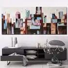 Hand Bemalt Abstrakten Stadt Gebäude Ölgemälde Abstrakte Wand Kunst Bild Wohnzimmer Schlafzimmer Home Decoration Drop Shipping - 6