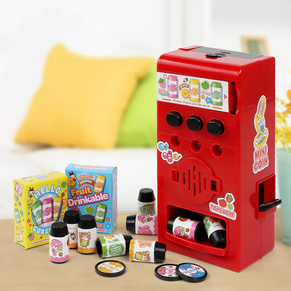 Kids Child Simulated Sound Drink Vending Machine Role Play Puzzle Toy Prop Gift  Children The Best House Gifts Better Experience