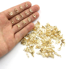 26pcs/Set A-Z Letters Pendant DIY Jewelry Accessories Zinc Alloy Alphabet Charms For Necklace Keyring Bracelet Making Gold Color