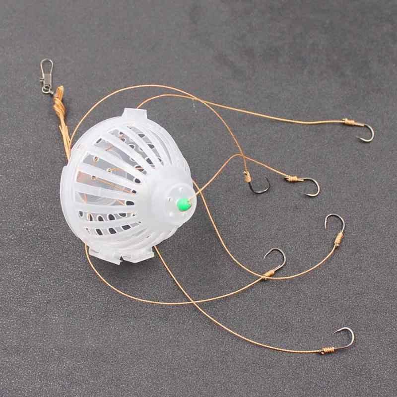 1Pc Vishaken Pecsa Haken 6 In 1 Lantaarn Voor Vissen Flap String Haak Voorkomen Kronkelende Lijnen Pesca Aas staal Haken Vissen Tack