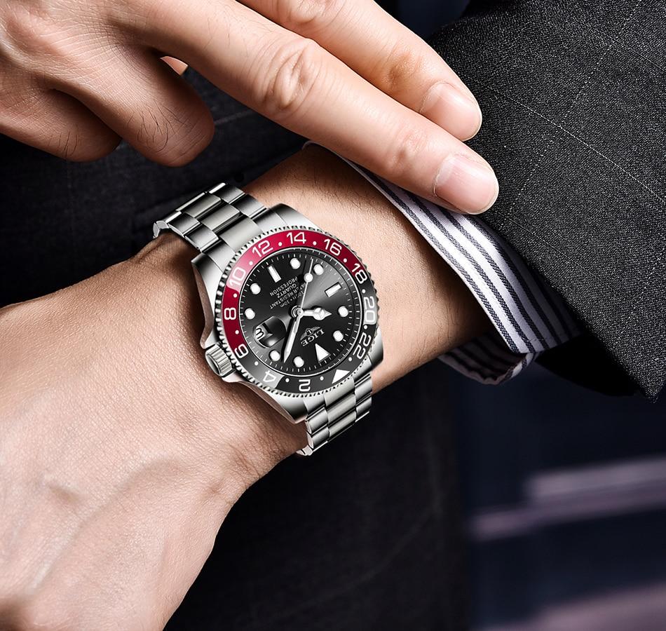 2021 New LIGE Mens Watches Fashion Business Waterproof Quartz Wrist Watch Men Top Brand Luxury Stainless Steel Sport Clock Male